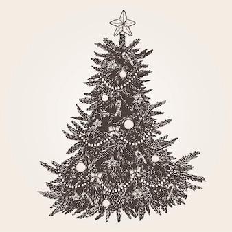 ヴィンテージのクリスマスツリー