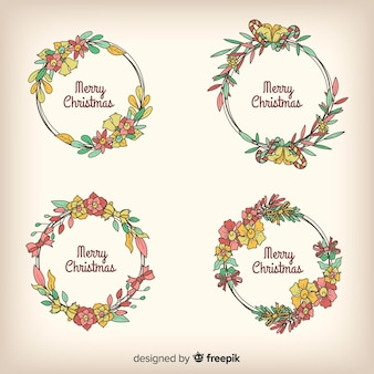 Vintage christmas wreath collection
