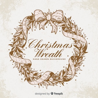 Винтажный рождественский венок