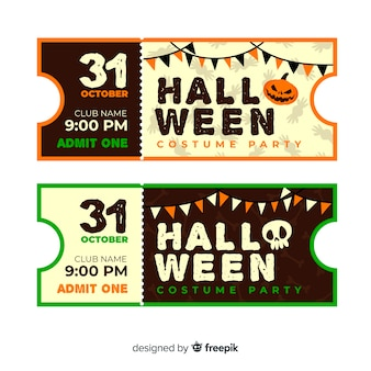 Vintage cinema tickets for halloween