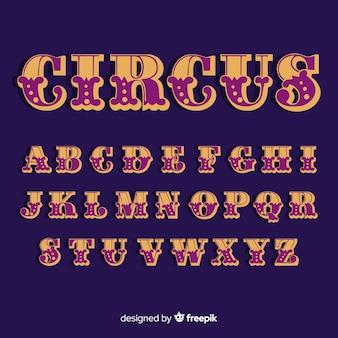 Vintage circus alphabet
