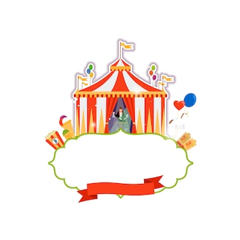 Vintage circus isolated element