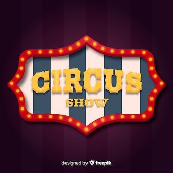 Vintage circus light sign