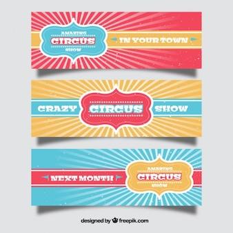 Vintage цирковое шоу баннеры