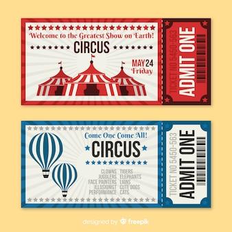 Vintage circus ticket