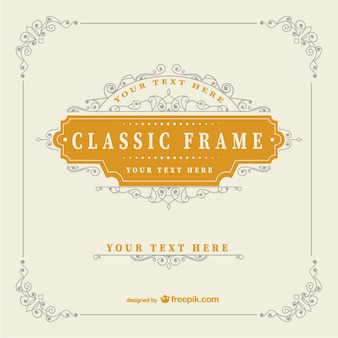 Vintage classic frame template Free Vector