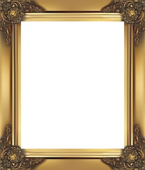 Vintage and classic golden frame