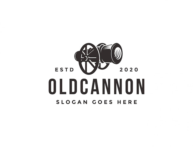 Vintage classic old cannon logo icon template
