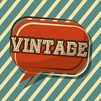 Vintage classic speech bubble badge stripes background