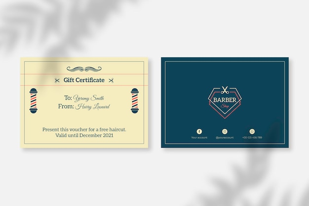 Vintage classic style gift certificate template