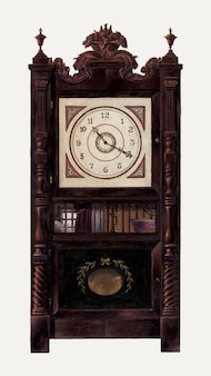 Illustrazione vettoriale di un orologio vintage, remixato dall'opera d'arte di ralph morton