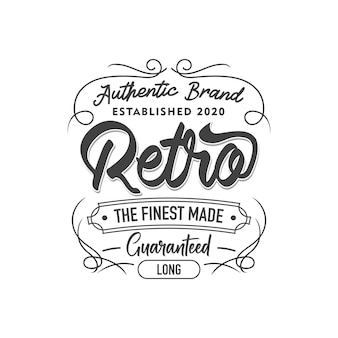 Vintage cloth label