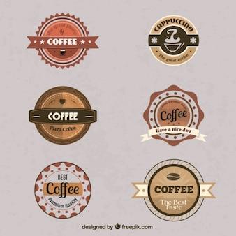 Vintage coffee badges