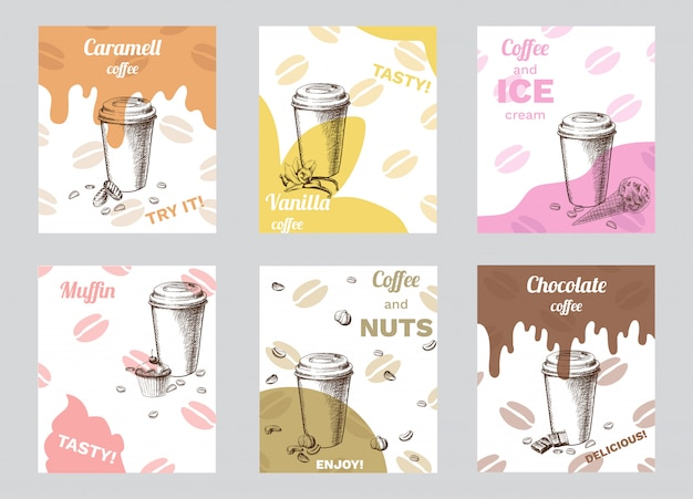 Vintage coffee brochures
