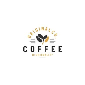 Vintage coffee logo badges stock vector