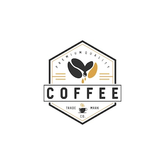 Vintage coffee logo badgesストックベクトル