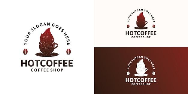 빈티지 커피 로고 디자인 영감, 커피 장소, 카페 및 기타 로고
