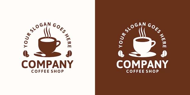 ヴィンテージコーヒーのロゴデザインのインスピレーション、コーヒーの場所、カフェ、その他のロゴ