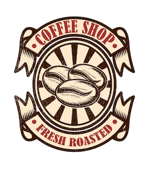 Vintage coffee shop emblem