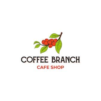 ヴィンテージコーヒーショップのロゴデザインのインスピレーション、クラシックなレトロなスタイル
