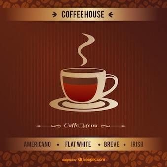 Vintage coffeehouse vector