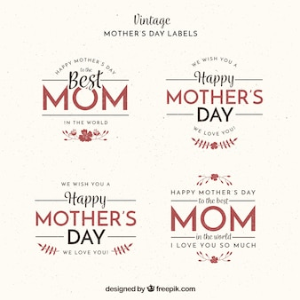 Vintage collection of fantastic mother's day labels