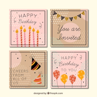 Винтажная коллекция поздравительных открыток