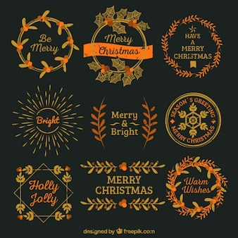 Урожай коллекция золотых рождественские наклейки