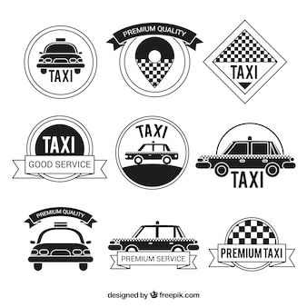 Vintage collection of taxi badges