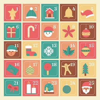 ヴィンテージ色のアドベントカレンダー