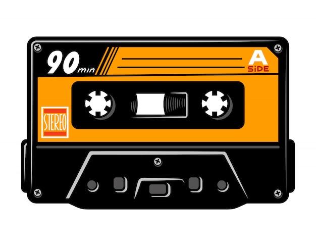 Vintage colorful audio casette concept