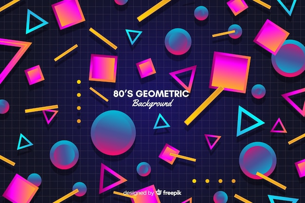 Vintage colorful geometric shape background