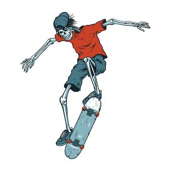 Винтажный скелет скейтер
