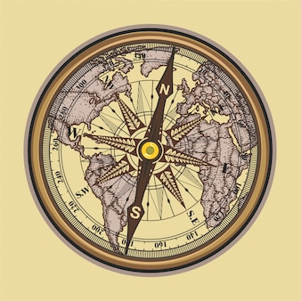 Vintage compass illustration