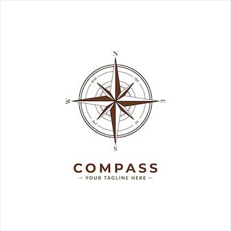 Vintage compass logo icon symbol
