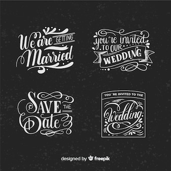 Vintage concept for save the date collection
