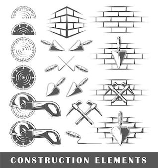 Vintage construction elements