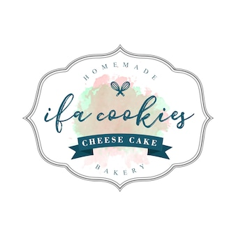 Vintage cookies and bakery brand template