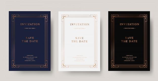 ビンテージ銅高級招待カード
