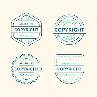 Vintage copyright stamps pack