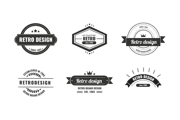Vintage corporate identity logo template