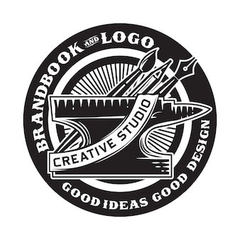 Vintage creative studio badge