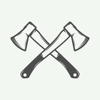 Vintage cross axes