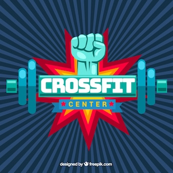Vintage crossfit center background