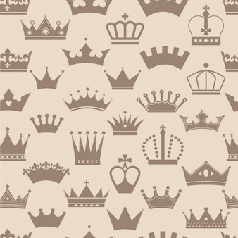 Vintage crowns pattern