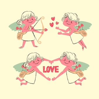 Vintage cupid character collection