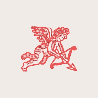 Vintage cupid illustration