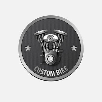 Vintage custom bike retro label design