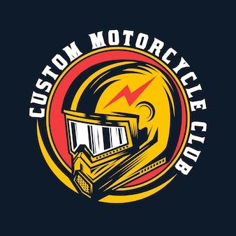 ヴィンテージカスタムオートバイヘルメットバッジデザイン