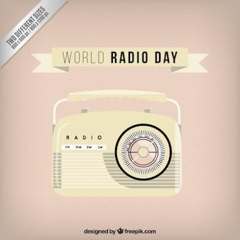 빈티지 귀여운 라디오 배경